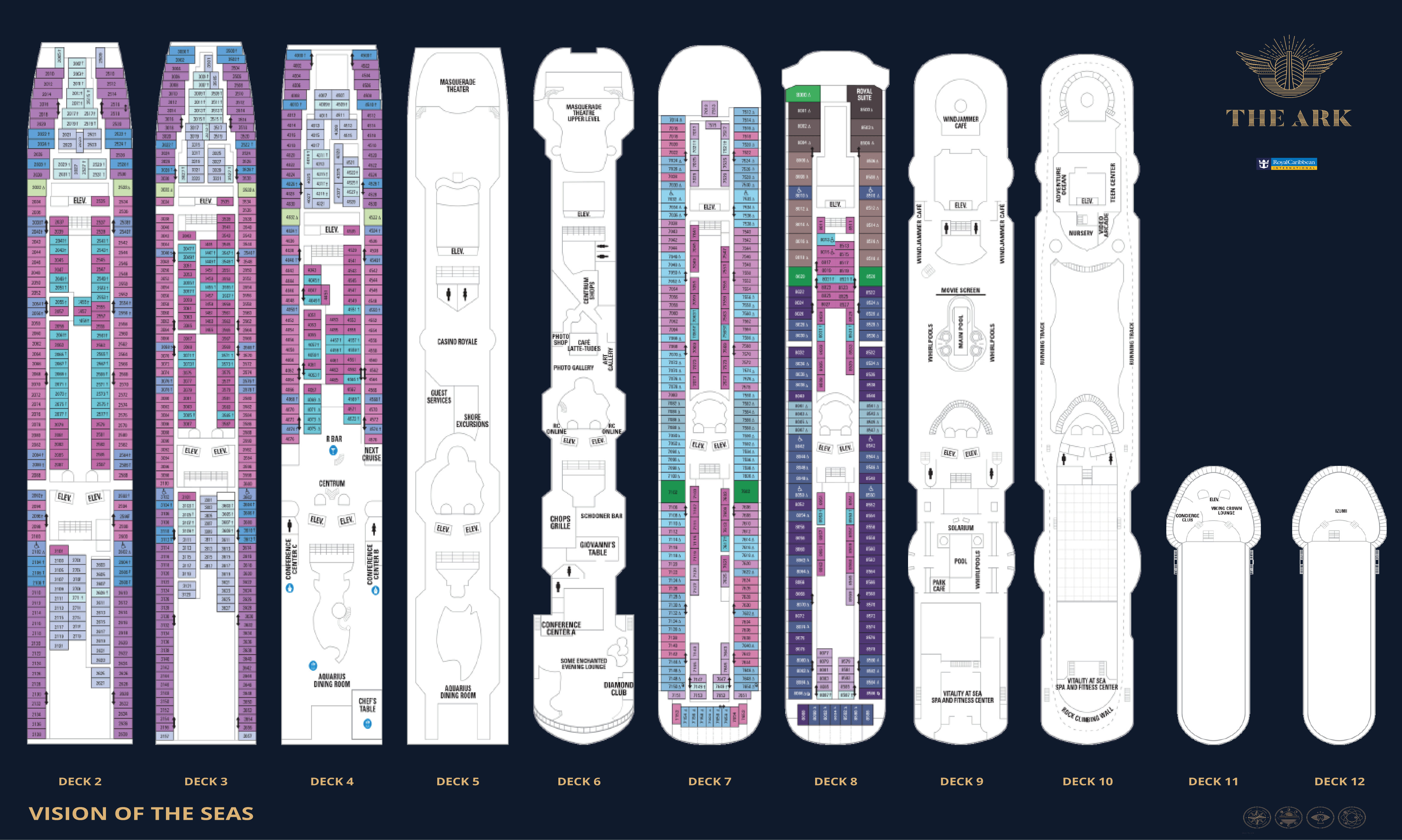 Photo Deck Plan Vision Of The Seas Images Grand